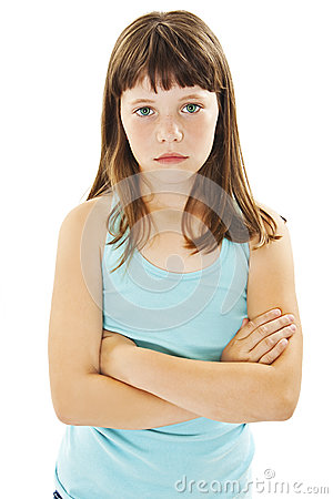 Free Sulky Angry Young Girl Child, Sulking And Pouting Stock Images - 84116764