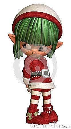 Sulky little christmas elf