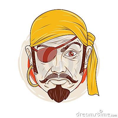 The Sullen Pirate Stock Vector - Image: 57452357