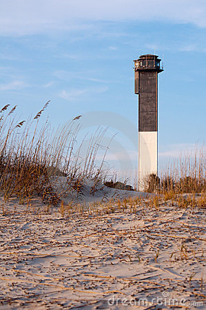 Free Sullvan S Island Lighthouse At Sunset Royalty Free Stock Images - 23927219