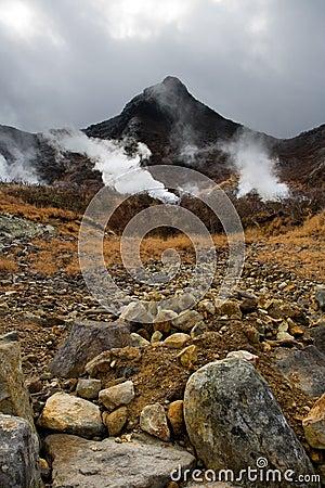 Free Sulphur Vents Of Owakudani Royalty Free Stock Photo - 16142745