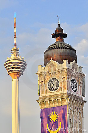 Sultan Abdul Samad  building and the KL tower
