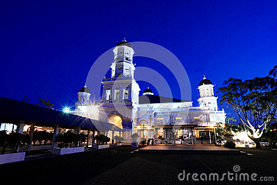 Sultan Abu Bakar Mosque Editorial Stock Photo