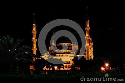 Sultan Ahmed (Blue) Mosque at Nigth
