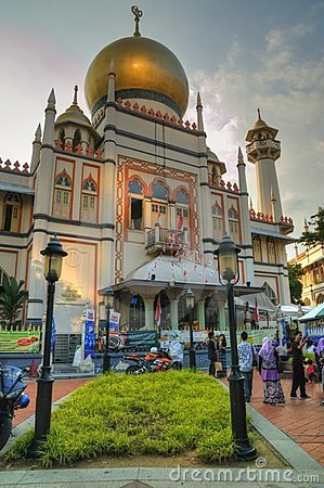 Sultan Mosque, Singapore Editorial Stock Photo