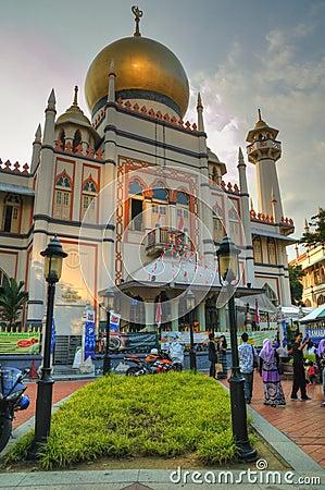 Sultan Mosque, Singapore Editorial Stock Photo