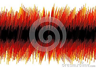 Sumário distorcido vermelho do osciloscópio