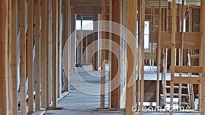 Sum?rio de quadro da casa de madeira da constru??o nova filme