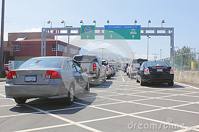 Sumas, Washington American Border Crossing Editorial Photography