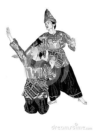 Sumatran dancing couple