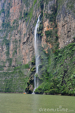Sumidero Canyon waterfall, Mexico