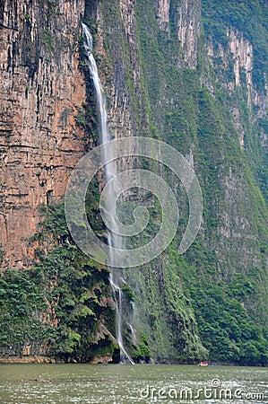 Sumidero Canyon waterfall, Mexico