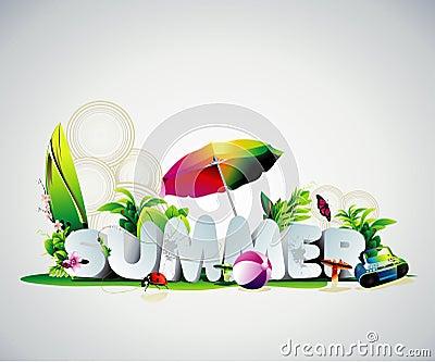 Summer 3d text