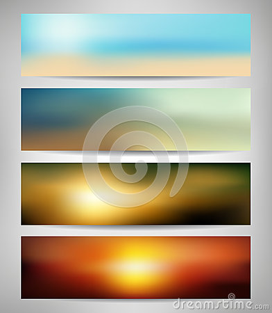 Summer Abstract Blurred Banners