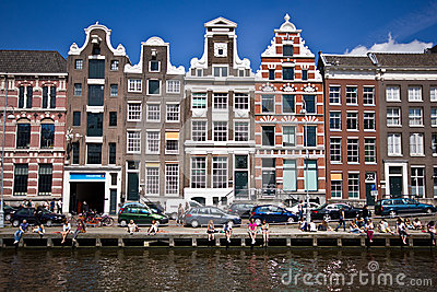Summer in Amsterdam Editorial Stock Photo