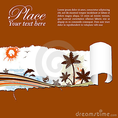Free Summer Background Through A Hole In A Paper Royalty Free Stock Photos - 19746118