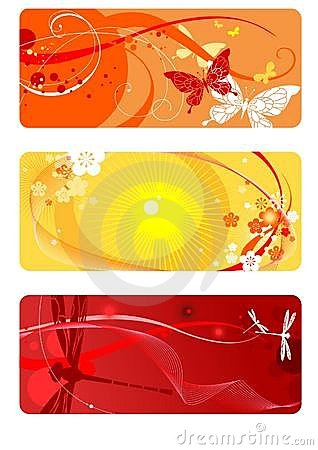 Summer backgrounds set