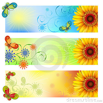 Free Summer Banners Royalty Free Stock Photography - 18777937