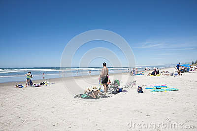 Summer at the beach. Editorial Stock Photo