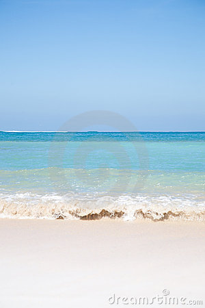 Summer beach background with clean sand