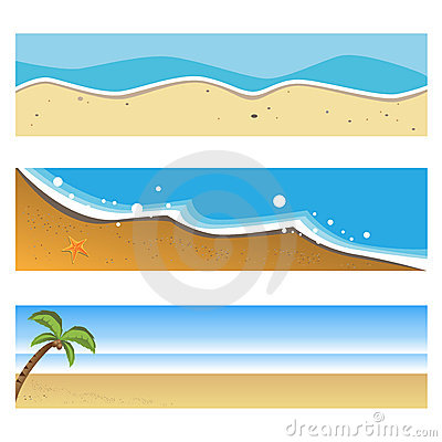 Summer beach banners