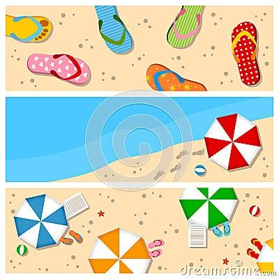 Free Summer Beach Banners Set Stock Photos - 30783693