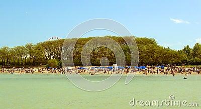 Summer beach in Chicago