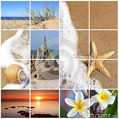 Summer Beach Collage