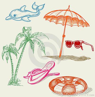 Free Summer Beach Holiday Items Stock Images - 20106814