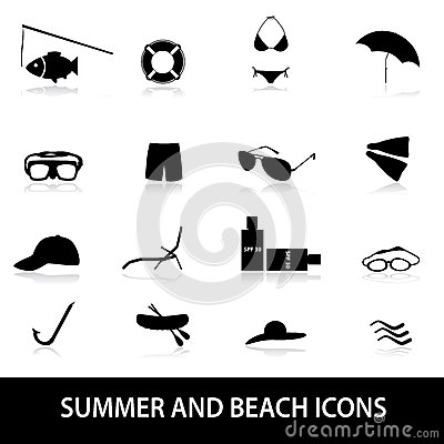 Summer and beach icons eps10
