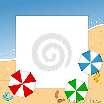 Summer Beach Photo Frame