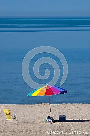 summer beach scene
