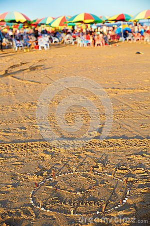 Free Summer Beach, Sea Park, Guangdong, China Stock Images - 75605794