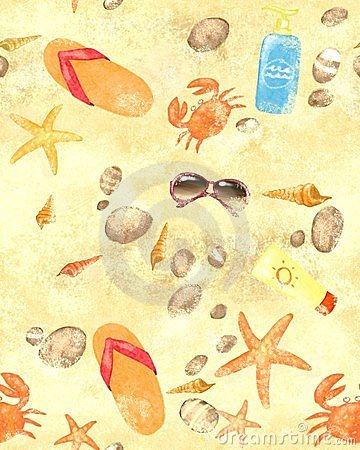 Summer beach seamless background