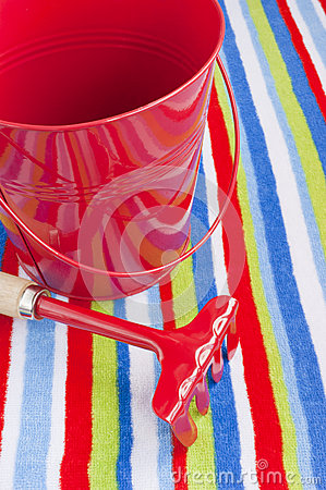 Summer beach towel red children s toys