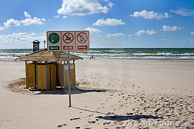 Summer beach in Ventspils