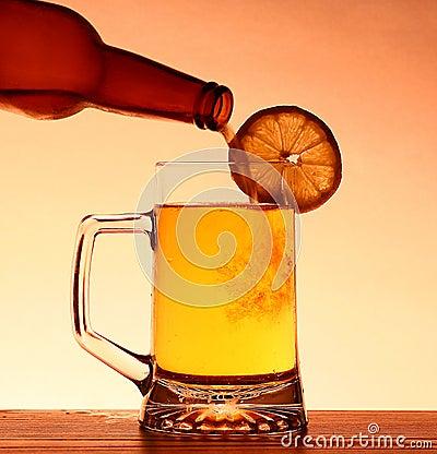 Summer Beer with lemon