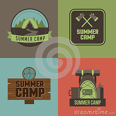 Free Summer Camp Icons Set EPS 10 Vector Royalty Free Stock Images - 52303879