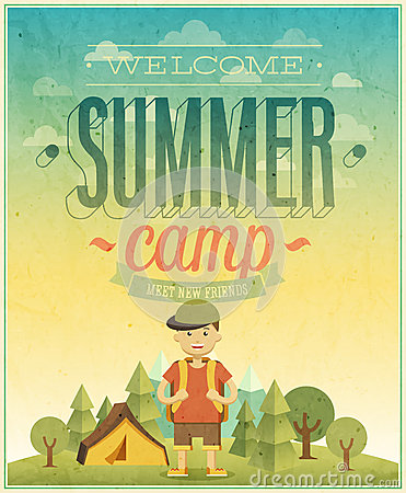 Free Summer Camp Poster. Stock Photography - 42069242