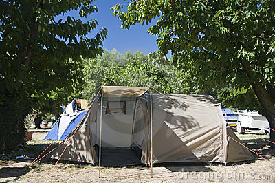 Summer camp site tent