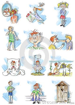 Summer children troubles