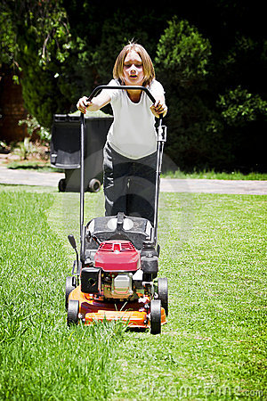 Summer Chores - Mowing Lawn
