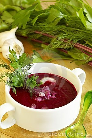 Free Summer Cold Beet Soup Stock Images - 14848414
