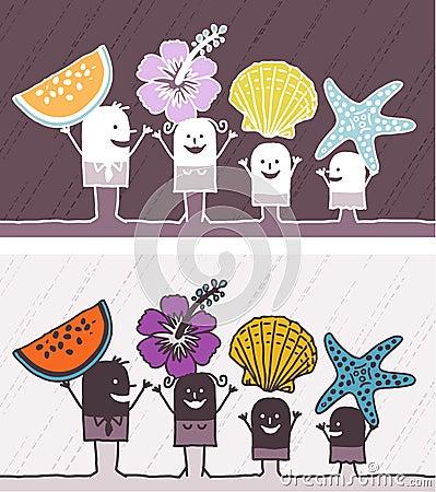 Summer colored cartoon Vector Illustration