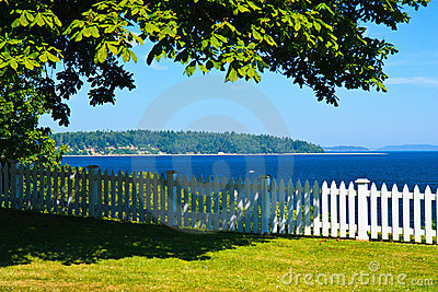 Summer colors, backyard view, Port Gamble, WA