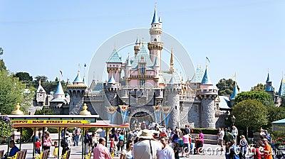 Summer crowd at Disneyland Editorial Photo
