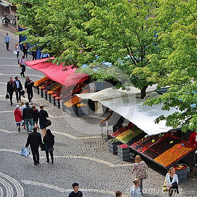 Free Summer Day At Hötorget Stock Photography - 62645002