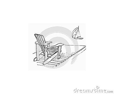 adirondack chair sketch. adirondack chair drawing sketch