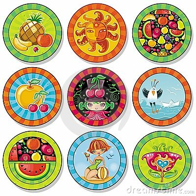 Summer drink coasters