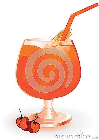 Summer drink with orange